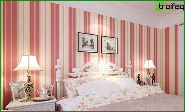 Tapeta z włókniny w sypialni - 5