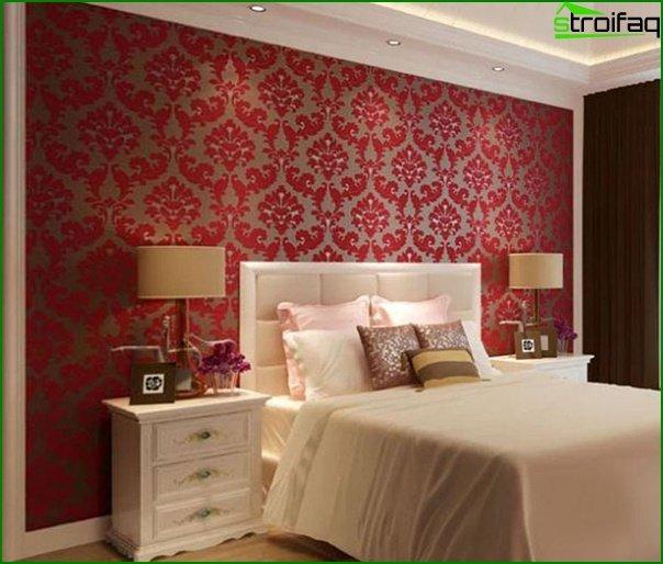 Tapeta z włókniny w sypialni - 6