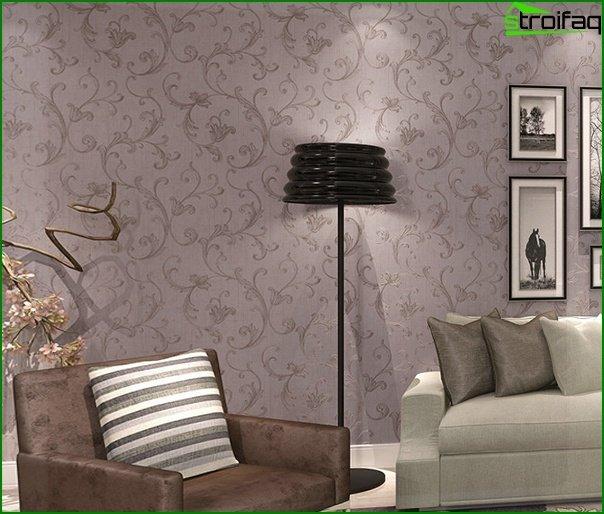 Papel pintado no tejido para la sala de estar - 1