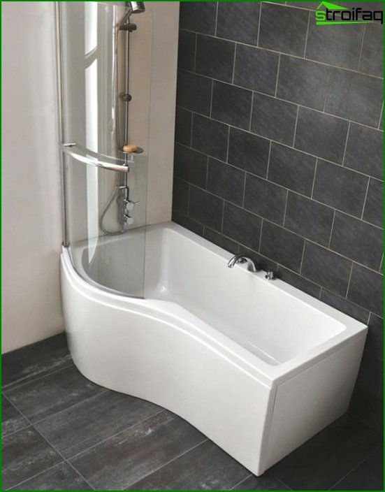 Shower with bathtub - 5
