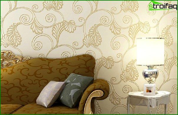 Papel pintado no tejido para la sala de estar - 4