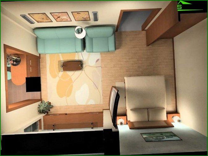 تصميم شقة استوديو 13