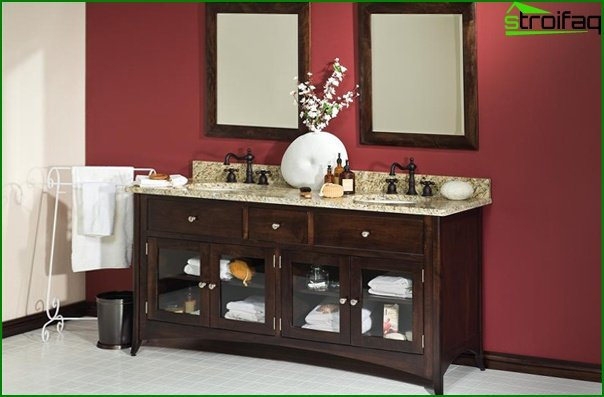 Wooden bathroom furniture - 1