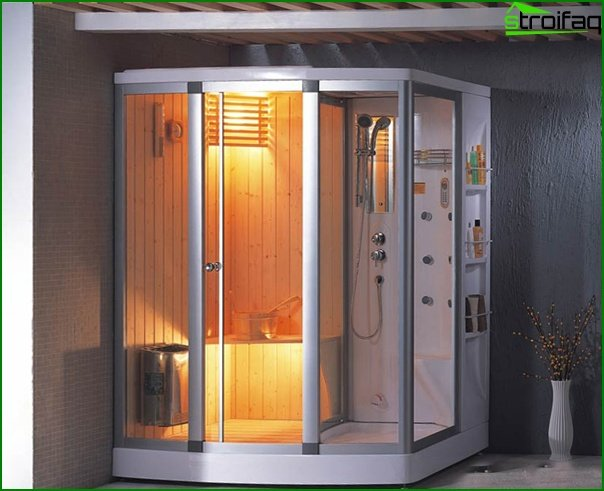 Shower cabin with sauna - 3