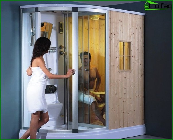 Shower cabin with sauna - 4