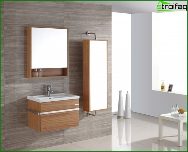 Furniture for a bathroom from MDF / Particleboard - 1