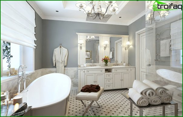 Classic style bathroom furniture - 1