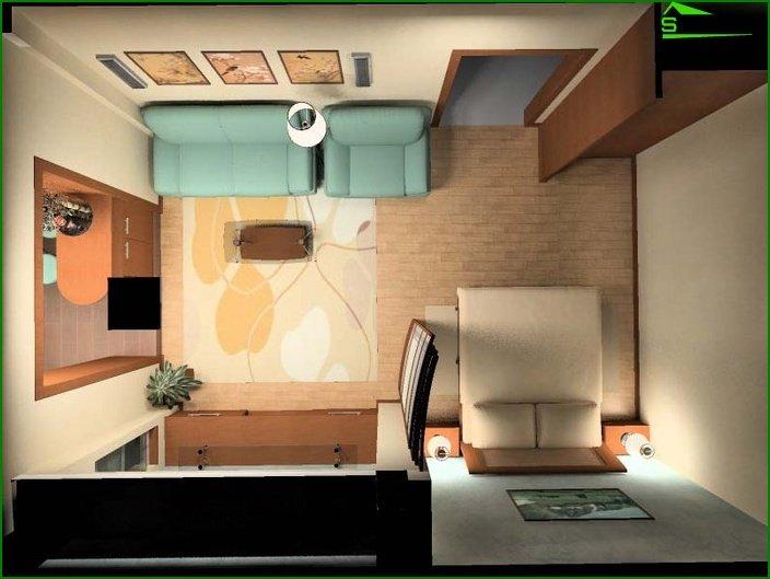 مشروع تصميم شقة استوديو 1