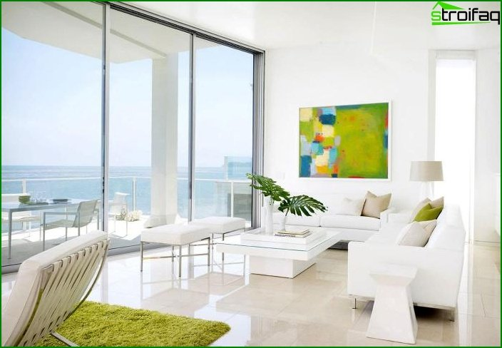Whites? Color in Living Room Design - photo 2