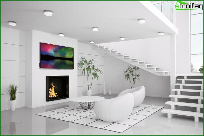 Whites? Color in Living Room Design - photo 4