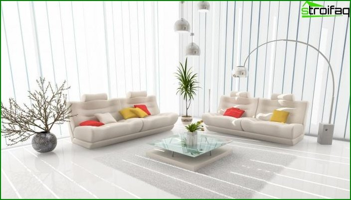 Whites? Color in Living Room Design - photo 5