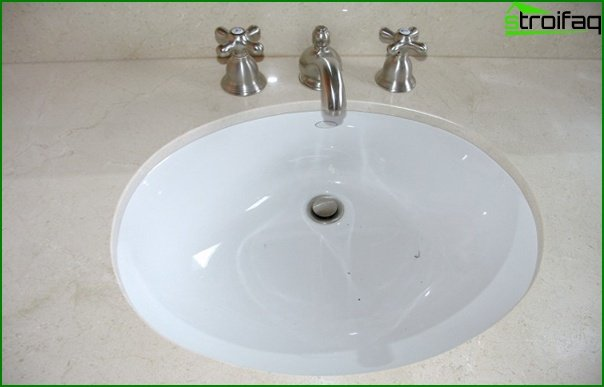 Conventional bathroom sink - 3