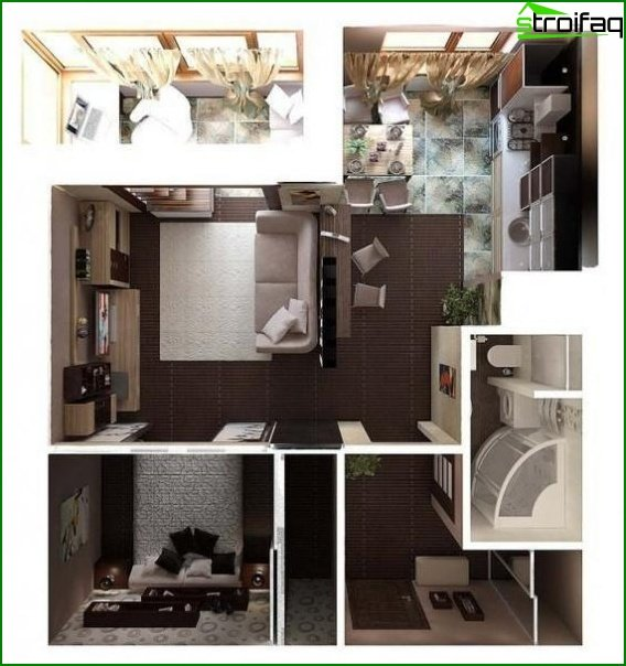 design project of a studio apartment 4