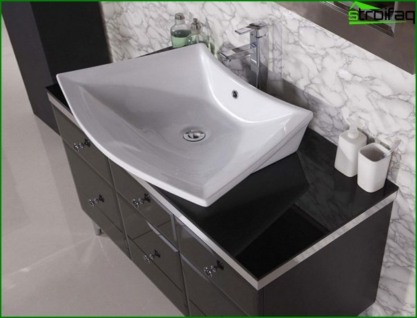 Sink with a curbstone - 5