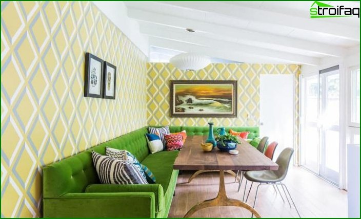 Hue Greenery in Living Room Design - photo 3