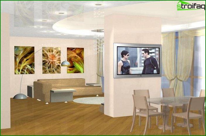 مشروع تصميم شقة من غرفة واحدة 6