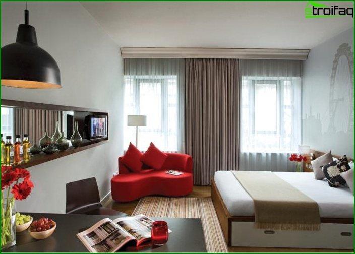 شقة من غرفة واحدة - الداخلية 1