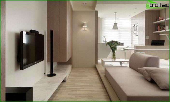 شقة من غرفة واحدة - الداخلية 4