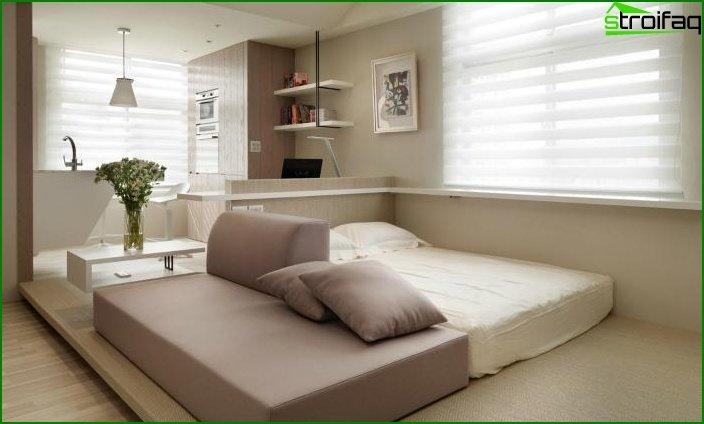 شقة من غرفة واحدة - الداخلية 5