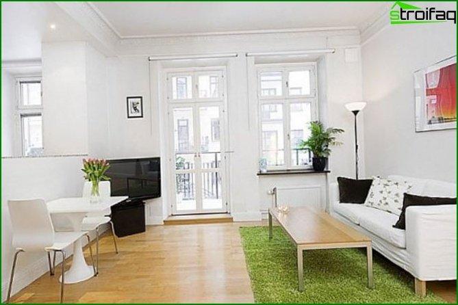 شقة من غرفة واحدة - الداخلية 9