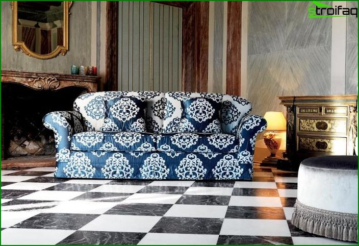 Upholstered furniture with patterns 3