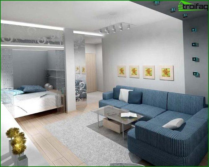 إصلاح شقة من غرفة واحدة 3
