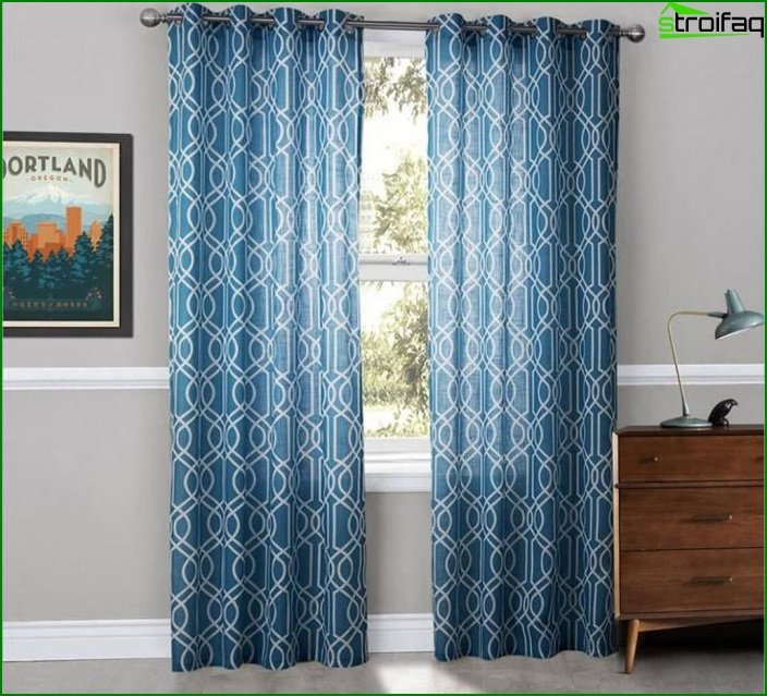 Curtains with geometric print 1