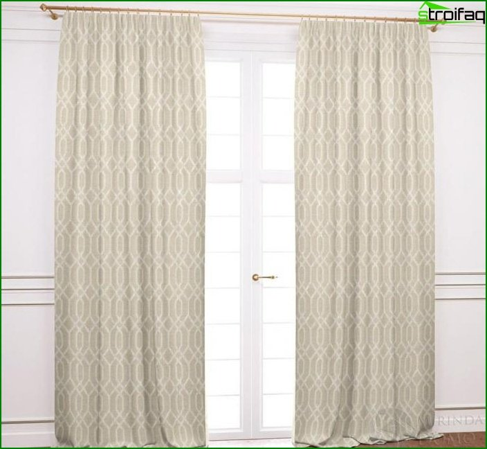 Geometric Print Curtains 5