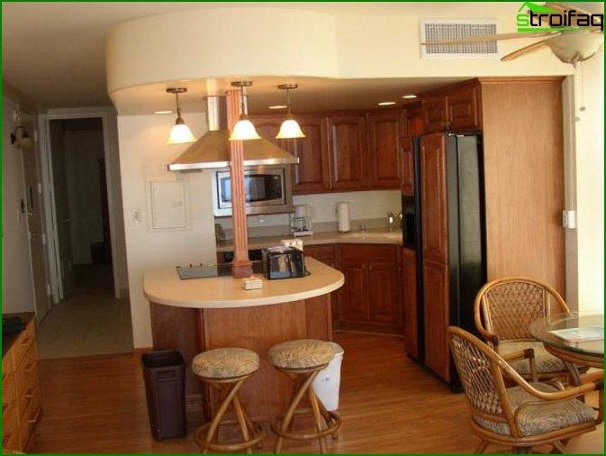 مطبخ في شقة استوديو 3