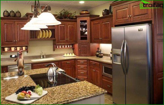 مطبخ في شقة استوديو 4