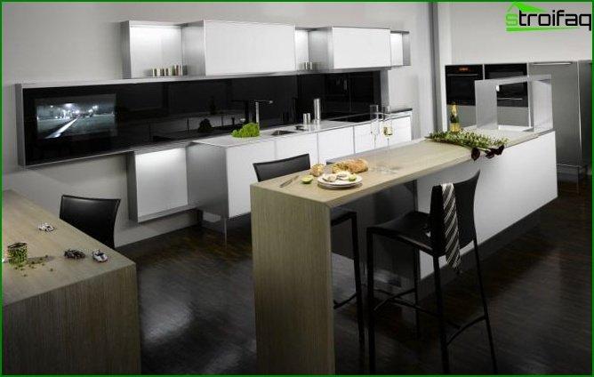 مطبخ في شقة من غرفة واحدة 6