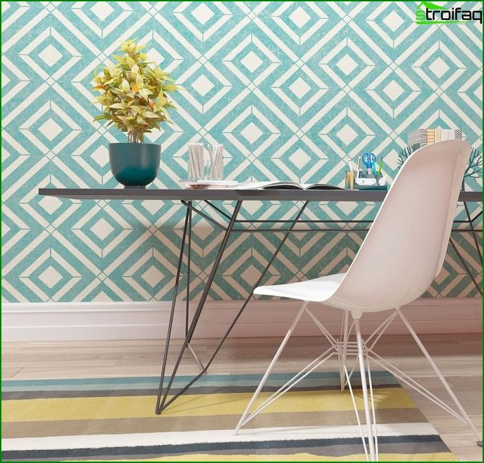 Wallpaper with geometric patterns 2