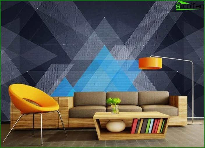 Wallpaper with geometric patterns 6