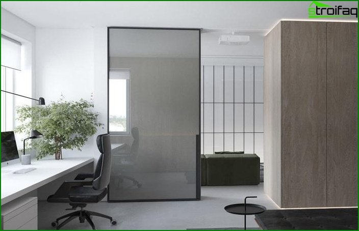 Decorative partitions for combined rooms 1