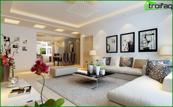 Living room in a modern style (furniture) - 3