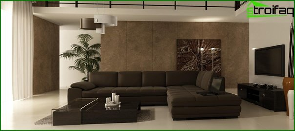 Living room furniture in a modern style (minimalism) - 4