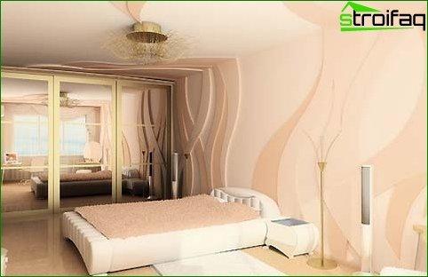 Tekuće tapete u dnevnoj sobi i spavaćoj sobi 6