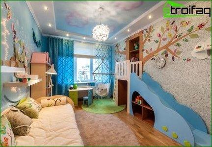 Płynna tapeta w pokoju dziecinnym