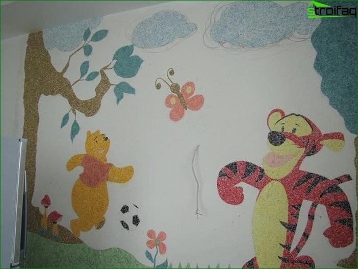 Płynna tapeta w pokoju dziecinnym 2