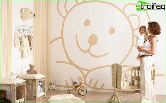 Płynna tapeta w pokoju dziecinnym 5