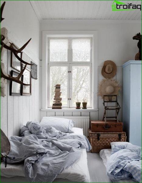 Papel tapiz fotográfico para el dormitorio en estilo rústico