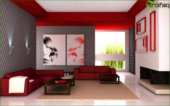 Foto papel tapiz en el dormitorio