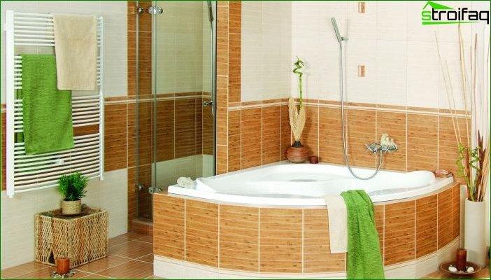Фото дизайну ванної кімнати