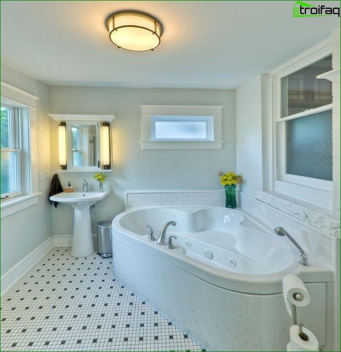Фото інтер'єру ванної кімнати