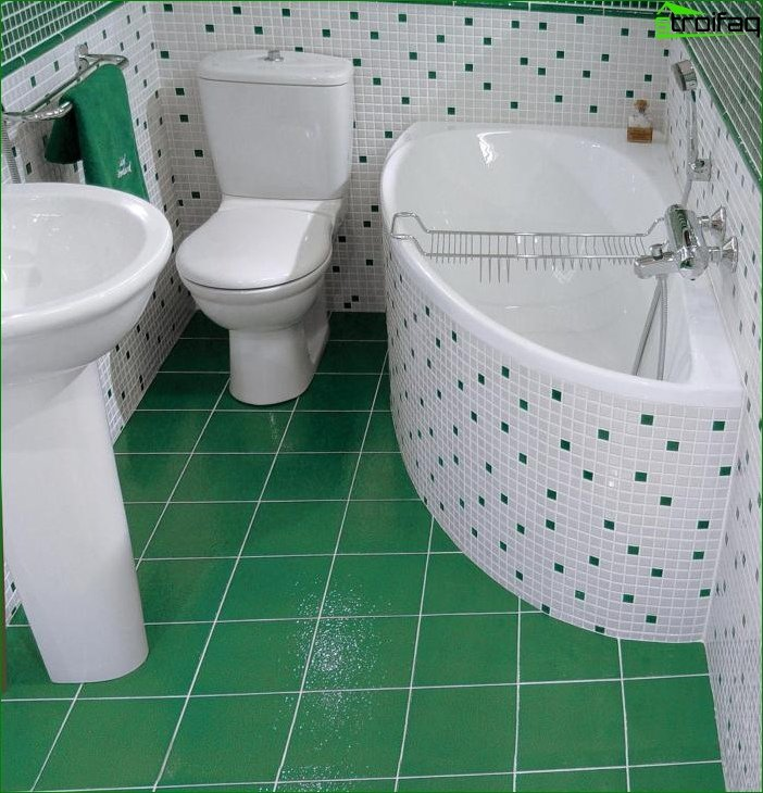 Photo of the interior of the bathroom