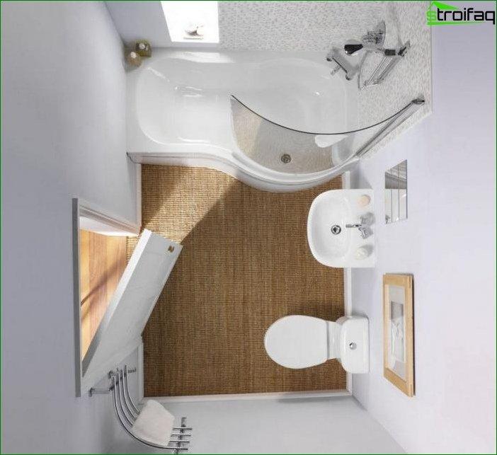 Варіант планування ванної кімнати