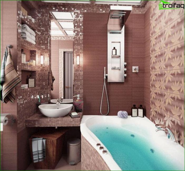 Красива ванна кімната в типовому будинку