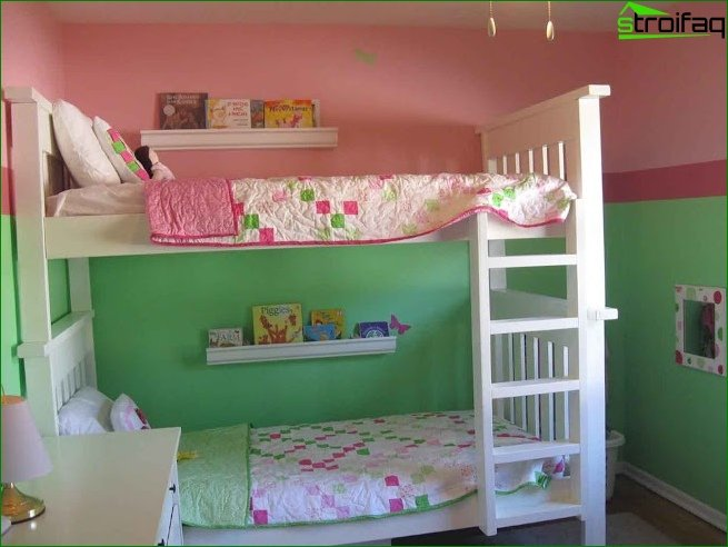 Zoning the room using different color schemes 1