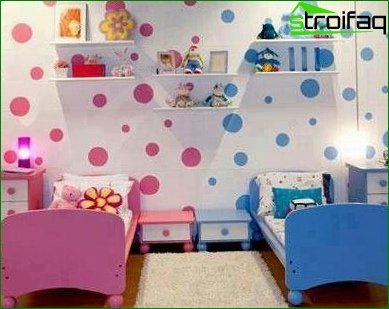 Zoning a room using different color schemes 4