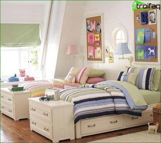 Zoning a room using different color schemes 6